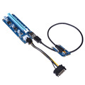 USB 3 0 PCI E Express 1x to16x Extender Riser Card Adapter SATA 6Pin Power with