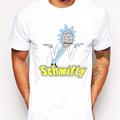 Free Rick retro printed Men customized t shirt short sleeve casual male tops hipster Rick And