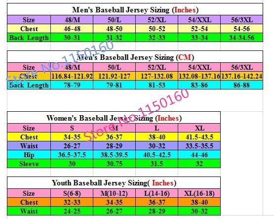 Baseball Size Chart