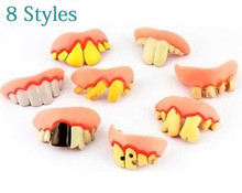 Halloween Or April Fool's Day Funny And Tricky Buck Rotten Teeth - Color Random Toy Free Shipping(China (Mainland))