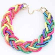2015 New Brand hot Fashion bijoux maxi necklace Rope chain choker Statement necklaces & pendants bohemian bib colar jewelry D293