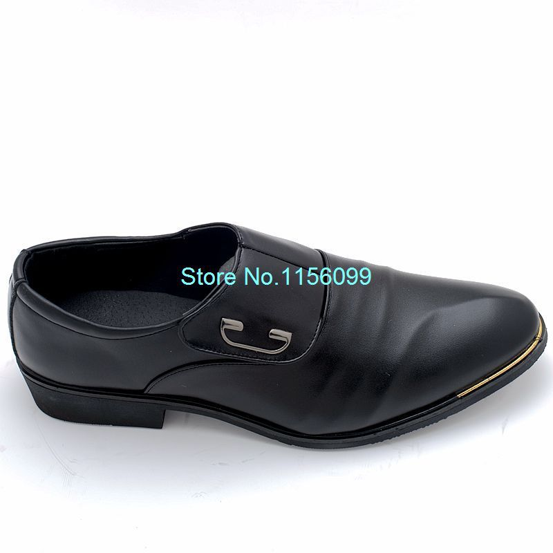 fashion mens pu leather business shoes casual flats