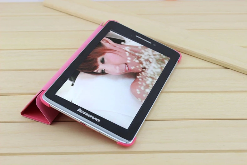 Ultra-thin Slim Solid Color Folding Flip Stand PU Leather Case Lenovo A1000 7 inch Tablet PC Smart Cover  -  Newoer Team store