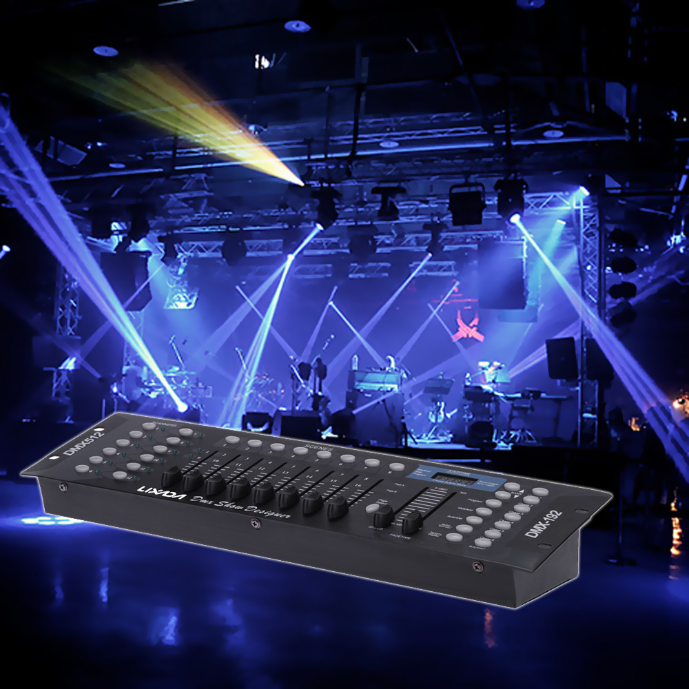 NEW LIXADA 192 DMX controller US Plug Led stage lighting DJ equipment console for led par moving head spotlights dj controller(China (Mainland))