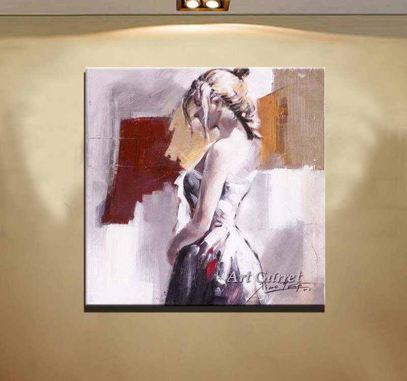 Handmade Nude oil painting canvas Modern Naked woman Living Room Decor Abstract people paintings - Art Garret Home store