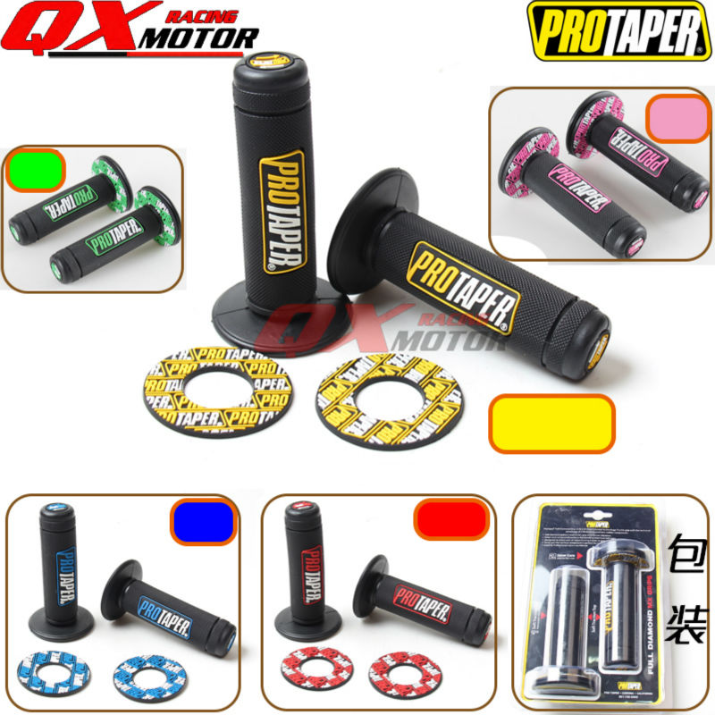 "Motorcycle Pro Taper Grip Handle MX Grip Fit Dirt Pit Bike Motorcross 7/8"" Handlebar Rubber GEL Hand Grips Free shipping(China (Mainland))"