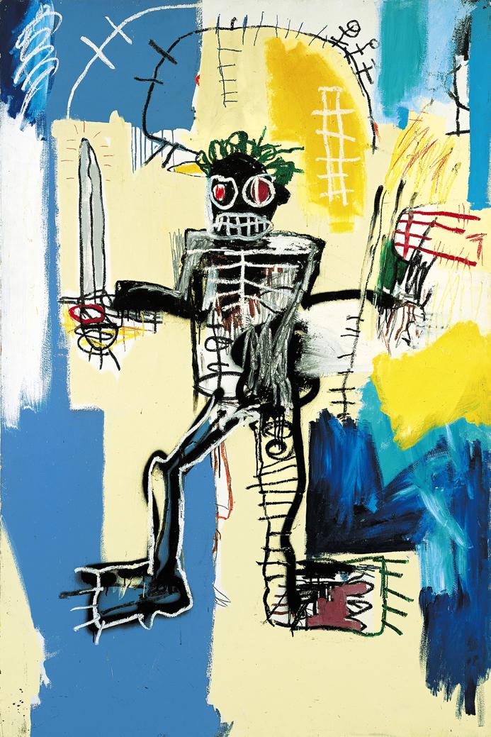 "Graffiti painted wall art Michel Basquiat Neo-Expressionism woven fabric poster36"" x24"" 20"" x13"" Decor- 030(China (Mainland))"