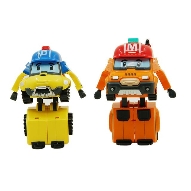 2 Шт./компл. Robocar Poli Robocar Poli Робот Корея Игрушки Аниме Фигурки Баки Отметить Преобразование Игрушки Для Детей Подарки
