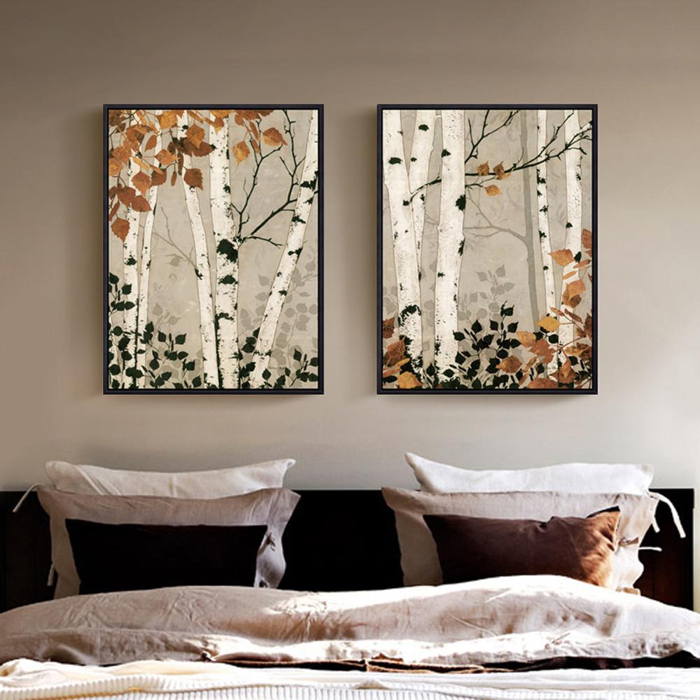 Comparer les prix sur birch tree painting online for Peinture mur blanc