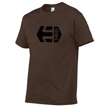 2019 Cores 20 Etnies Skate Tee imprimiram a Camisa de T Dos Homens 100% algodão Camisetas de Verão Menino De Skate Tshirt Tops plus size XS-3XL(China)