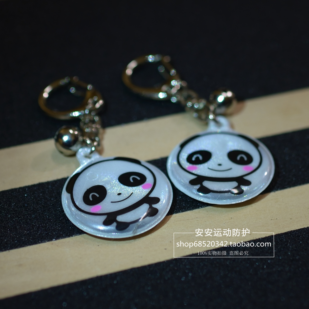 1 piece New Fashion Cute Multi Color Smiley Face Reflective Key Chain Key Ring Bag Hanging Pendant