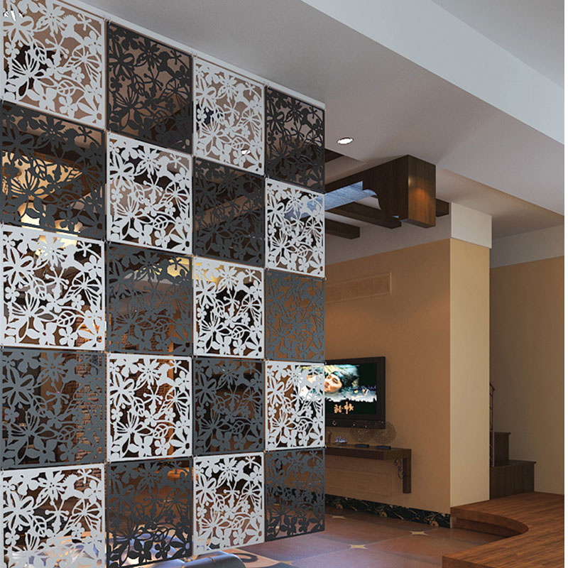 2016 New Arrive DIY Hanging Screen Butterflies pvc Film Wall Decoration  Hangings Room Dividers Decors. Glass Wall Divider Promotion Shop for Promotional Glass Wall