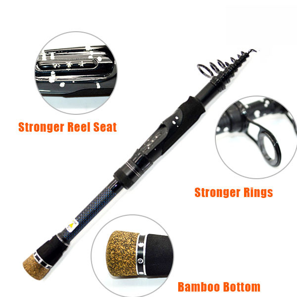 1.8M 2.1M 2.4M Carbon Telescopic Carp Fishing Spinning Rod Fishing rods Pole Stick for Fishing Equipment Surf Casting Pesca(China (Mainland))