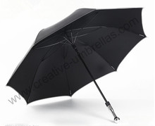 Self-defense unbreakable golf umbrella,carbon fiberglass shaft and ribs,210T Taiwan Formosa pongee black coating 5times,Anti-UV(China (Mainland))
