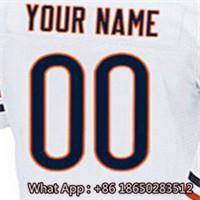 100% Stitched With Customized #6 Jay #17 Alshon #23 Kyle #34 Walter #75 Kyle Men's Navy Orange White Jersey(China (Mainland))