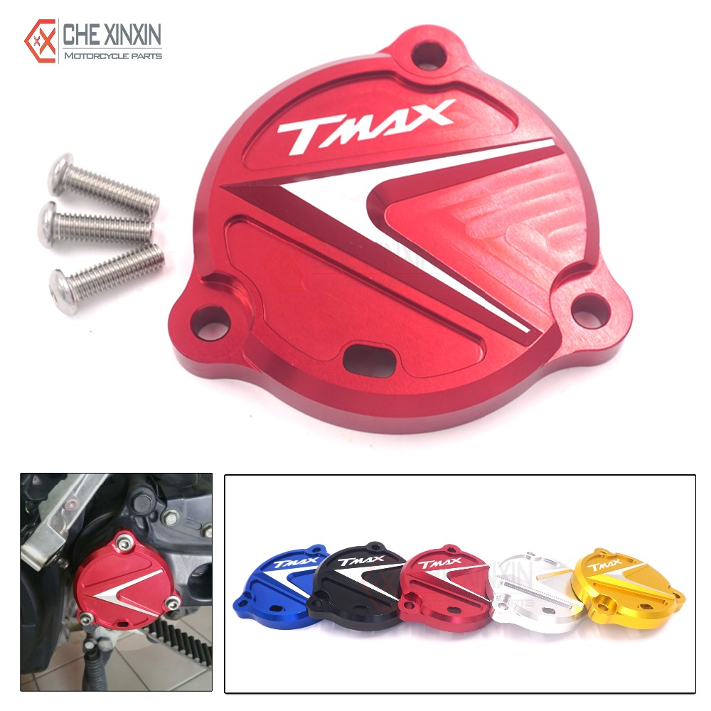 High quality red Motorcycle accessories CNC Front Drive Shaft Cover Guard with TMAX LOGO For Yamaha Tmax 530 2012-2015(China (Mainland))
