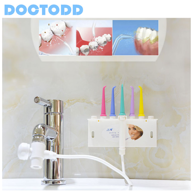 Faucet Oral Irrigator Dental Washing Machine Teeth Cleaning Device Water Power Free Solve Dental Calculus Plaque And Arthritis(China (Mainland))