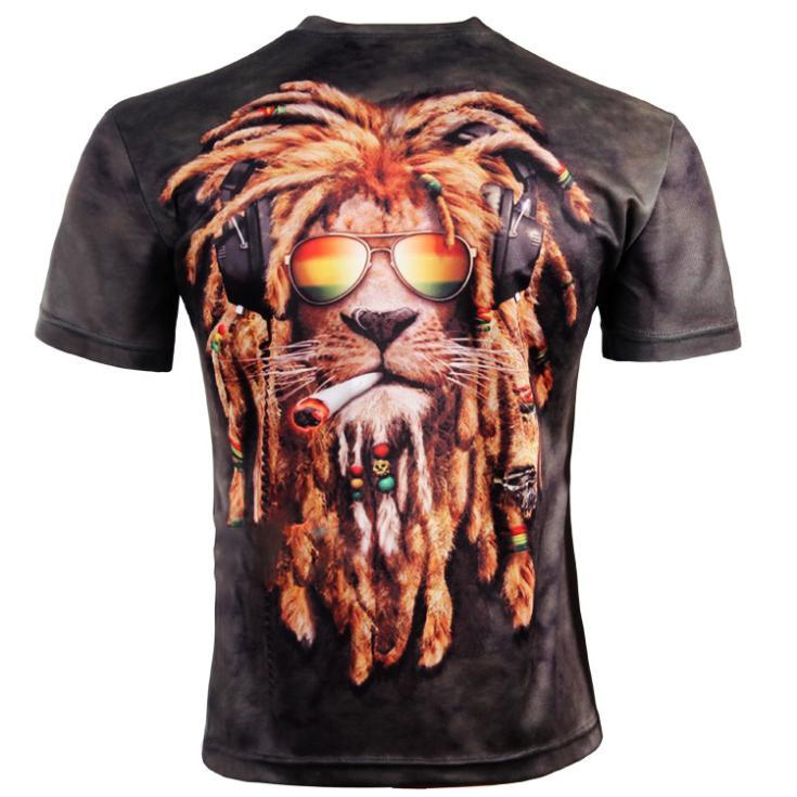 New Fashion Men's 3D Animal Creative T-Shirt, Eagle 3d printed short sleeve T Shirt,S-XXXXL,Plus Size