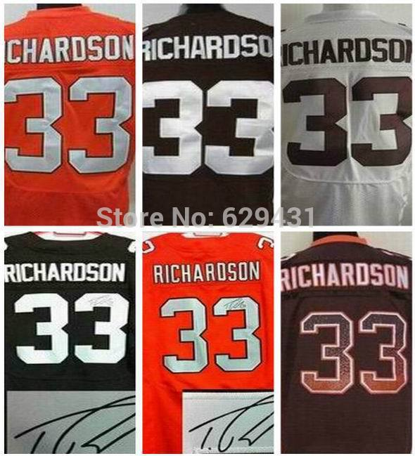 Buy Discount trent richardson Jersey #33 Elite American Cleveland Football Jerseys Signed Accept mix order Free Shipping Embroid(China (Mainland))