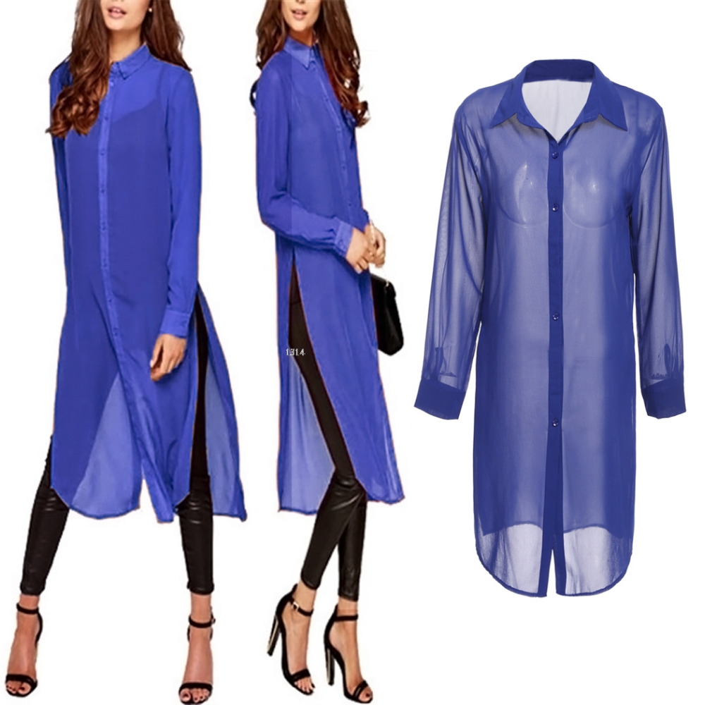 Cheap Royal Blue Blouse 69