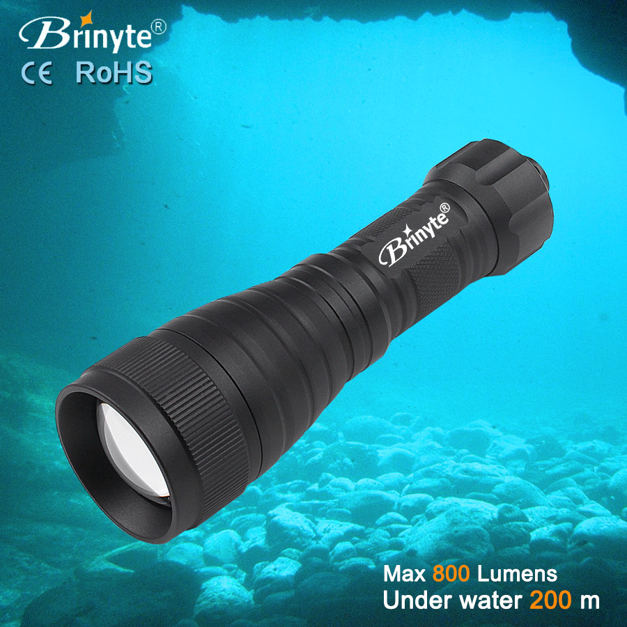 Brinyte DIV05V Waterproof Diving Video Scuba Torch Flashlight Dive Torcia Use 18650(China (Mainland))