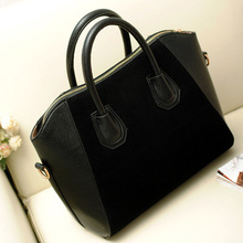 Women Handbag Fashion Shoulder Bags Tote Purse Frosted PU Leather Bag gib