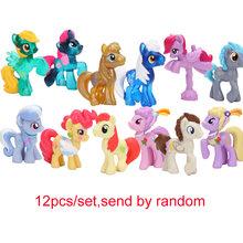 12 pçs/set My Little Pony Brinquedos Mini Ação PVC Figures Set Rainbow Dash Pônei Twilight Sparkle Apple Jack Pico dragão Bonecas(China)
