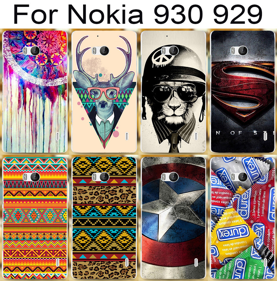 2015 New Arrival Hard Plastic Phone Case For Nokia Lumia 930 929 Case 22 pictures DIY cool hard cover mobile phone case(China (Mainland))