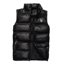 Free Shipping  High Quality DOWN VEST MEN Padded Casual Cotton BRAND Parkas WAISTCOAT COAT male JACKET Outerwear M-XXL Hot Sale(China (Mainland))