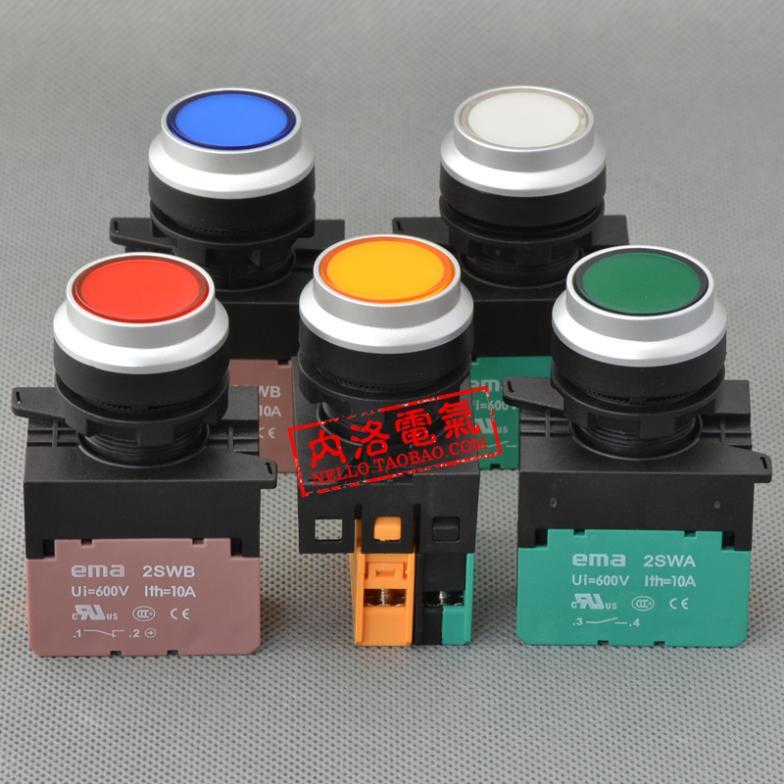 Здесь можно купить  [ SA ]Imports EMA illuminated pushbutton 22mm latching E2P5 *. A LED AC110/220V 1NO or 1NC--10PCS/LOT  Электротехническое оборудование и материалы