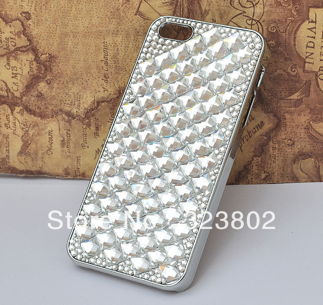 Handmade Bling Crystal Rhinestone Case Cover For Apple iPhone 4 4s 5 or Samsung Galaxy S3 S4 Note2