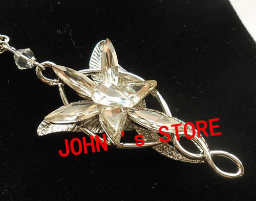 Freeshipping wholesale 20pc a lot Arwen Evenstar Pendant Crystal stones Necklace BB10