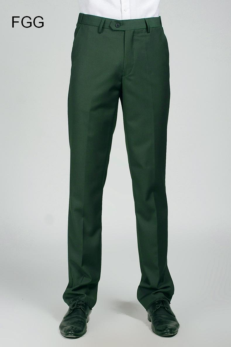 Groom Wedding Dress Straight Green Pants Party Prom Men Elastic Waist Business Formal Trousers ...