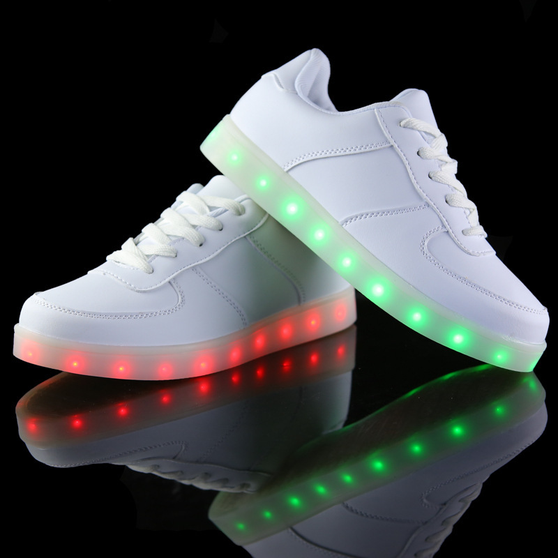 Led shoes for adults women led luminous shoes 2016 fashion led shoes canvas shoes man(China (Mainland))