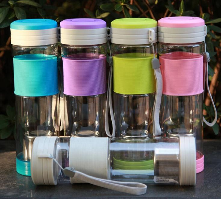 NEW Healthy Travel Tea Cup Portable Sport Travel Water Bottle 550ml 5 Colors Travel Mug With Filter Strainer Tea Bottles(China (Mainland))
