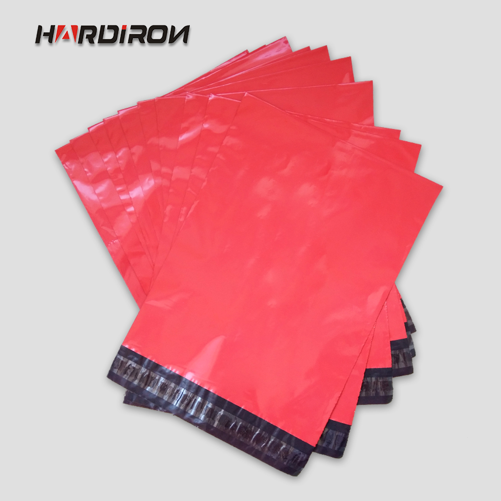 HARD IRON Free Shipping Red color Express Bag Poly Mailer Mailing Bag Envelope Pouches Self Adhesive Seal Plastic Bag(China (Mainland))