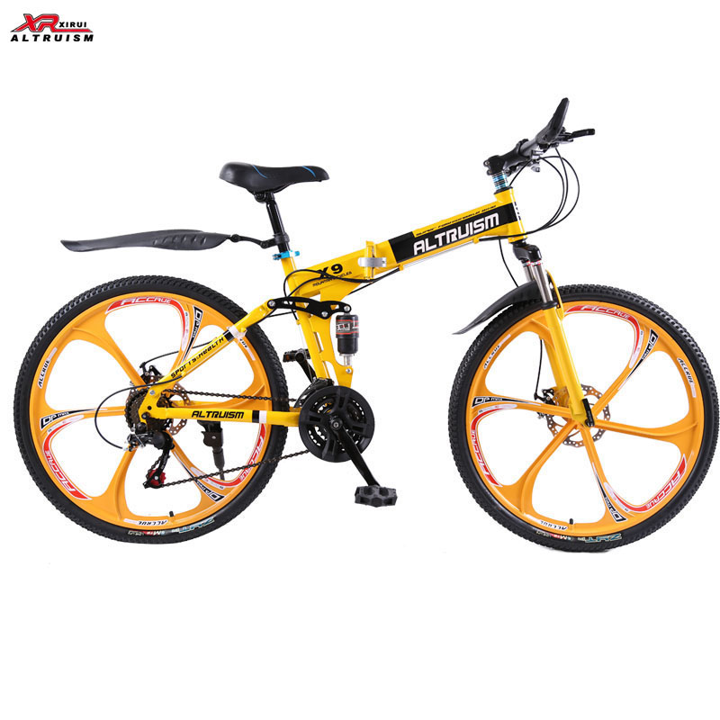 Full suspension mountain bike folding bicycle Altruism xirui X9 mountain bicycles 24 speed 26 inch bike for Mens unisex children(China (Mainland))