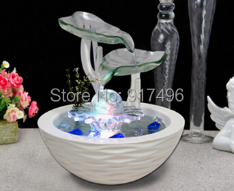 Water fountain bonsai decoration lucky feng shui wheel water features home gift humidifier - Beautify Baby Life store