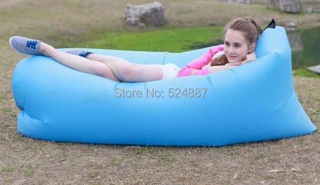 Бесплатная доставка! Быстрая infaltable мешок сна 10 секунд быстрое открытие ленивый спальная кровать lamzac же дизайн раскладной диван пляж сна