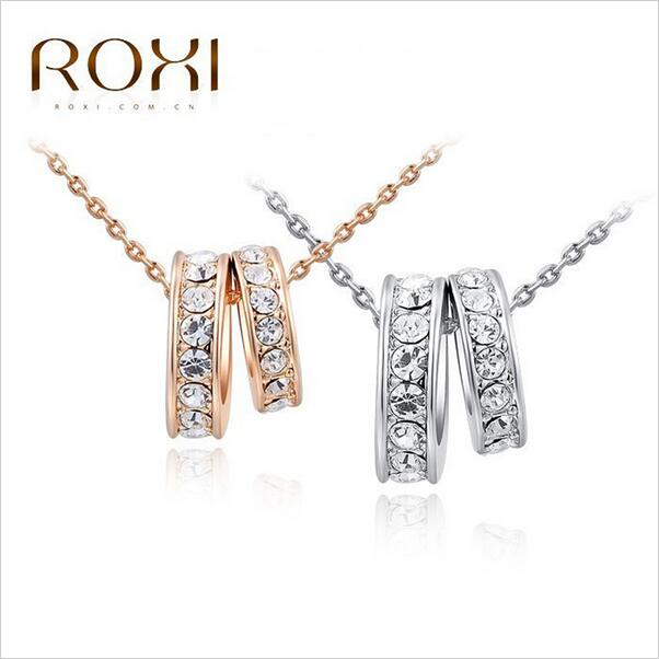 Cheap Jewelry Wholesale VOGUESS Brand New Clear Austrian Crystals Necklaces & Pendants Fashion Jewelry Woman Gift of Top quality(China (Mainland))