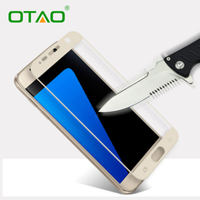 Buy Tempered Glass Screen Protector Film Samsung Galaxy S7 2.5D Full Cover Toughened Protective Film 9H 0.33mm Explosion Proof for $1.26 in AliExpress store
