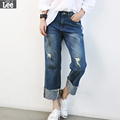 2016 Autumn New Wide Leg Pants Female Shi Lasi Ragged Jeans Free Shipping