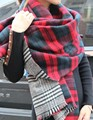ZA Winter Brand Women s Cashmere Scarf Plaid Oversized double faced plaid Multifunction Thicken Warm cape