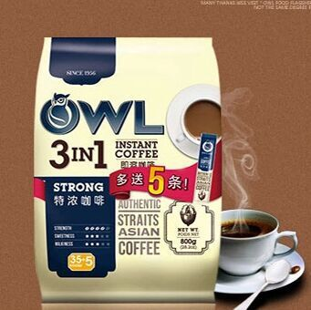 Owl owl coffee espresso instant coffee three in 800g40 small bag