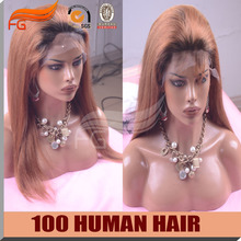 100 Remy Human Hair Ombre Peruvian Lace Wigs Two Tone 8a Full Black Women - FG Products Co.,LTD store