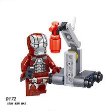 Capitão Marvel Thanos Legoings Endgame 4 Vingadores Homem De Ferro Hulk Spiderman Capitão América Figuras Blocos de construção Brinquedos Para Crianças(China)