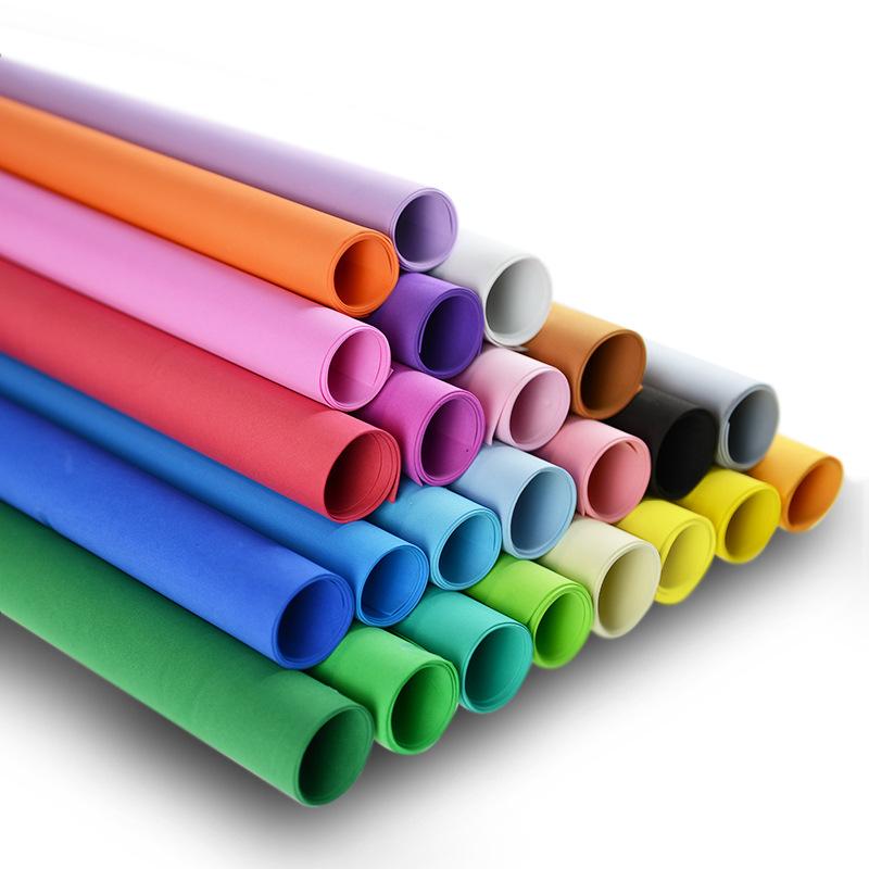 5 pcs 50x40 2mm foam paper child art 10 colors fold for How to cut thick craft foam