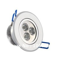 warm white / cold whiteRecessed 3w LED downlight ceilling light lamps 300-330lm 20pcs/lot free shipping DHL(China (Mainland))