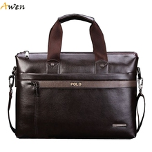 Awen - Hot Sell Promotion Simple Dot Design Famous Brand Business Men Briefcase Bag,Luxury Wholesale Leather Laptop Bag For Man(China (Mainland))