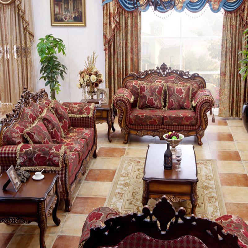 Buy European American Wood Carving Sofa Combination Living R